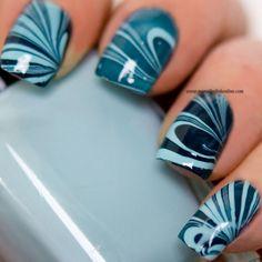 Watermarble - My Nail Polish Online Nail Polish Online, Nail Polish Art, Nail Polish Colors, Love Nails, Pretty Nails, Water Marble Nail Art, Marble Nails, Finger Nail Art, Creative Nails