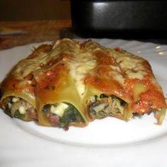 Spenótos-túrós cannelloni Recept képpel - Mindmegette.hu - Receptek Lasagna, Ethnic Recipes, Eat, Food, Essen, Meals, Yemek, Lasagne, Eten