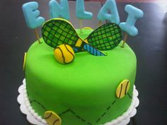 Tennis cake I only like the letter idea