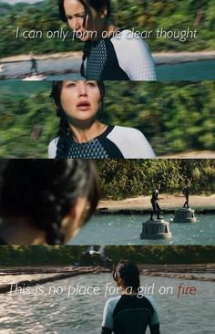 This is no place for a girl on fire ...