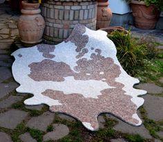 COW. Rug mosaic. Flexible mosaic rug. Stone by LaTenagliaImpazzita