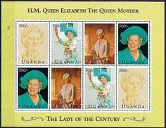 Uganda Stamps 1995 Queen Mothers Birthday Miniature Sheet SG MS 1486 Fine Mint Scott 1318 Other Uganda Stamps HERE