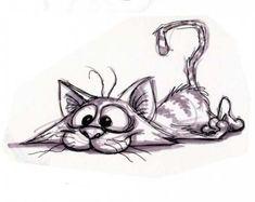 Pin by mimimitz on mimimitz in 2019 cat drawing, pencil draw Funny Drawings, Doodle Drawings, Cartoon Drawings, Doodle Art, Animal Drawings, Cartoon Art, Cartoon Pencil Drawing, Pencil Sketching, Drawing Animals