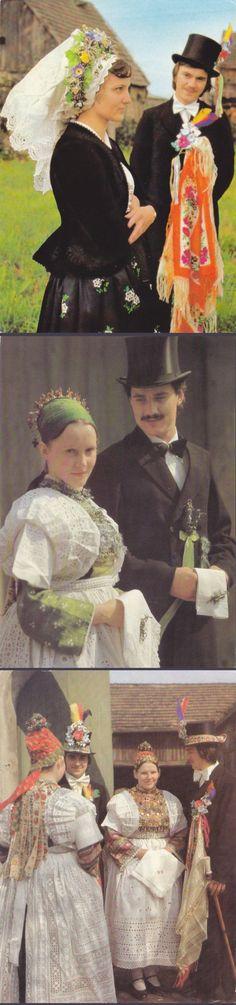 8 Vintage Kostüm Postkarten Sorben Deutschland von P8iosities