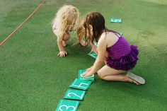 Outdoor Number Line Game for Preschool