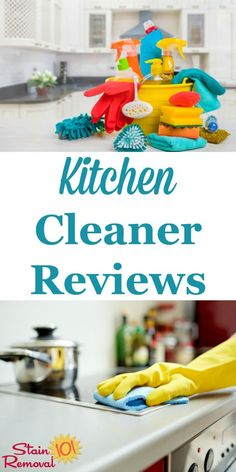 Here is a round up of over 30 kitchen cleaner reviews to find out which products work best for cleaning your kitchen surfaces, and which should stay on the store shelf {on Stain Removal 101} #KitchenCleaner #KitchenCleaning #CleaningProducts Car Cleaning Hacks, Deep Cleaning Tips, House Cleaning Tips, Spring Cleaning, Kitchen Cleaning, Arm And Hammer Super Washing Soda, Clean Baking Pans, Diy Furniture Easy, Diy Coffee Table