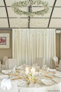 Il tavolo degli sposi. Wedding designer & planner Monia Re - www.moniare.com | Organizzazione e pianificazione Kairòs Eventi -www.kairoseventi.it | Foto Oscar Bernelli