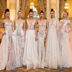 Designer Berta Balilti incorporated vintage-inspired beading, ethereal capes and feathers into her glam-filled Spring 2018 bridal collection. This season saw Berta's sexiest