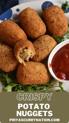 Looking for a perfect party appetizer ? Try this potato nuggets and everybody will love it... #party #holidayparty #holidarecipes #vegetarian