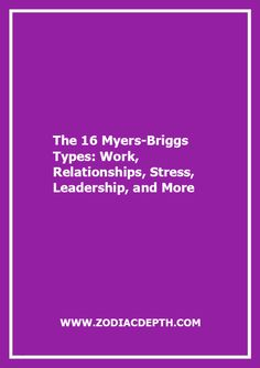stress and personality types Personality type provides another model for looking at how to deal with stress in the holidays for thinking or feeling and sensing or intuitive types, here's a quick tip sheet of resources and remedies to help manage holiday stress.