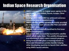 Indian Space Research Organisation ISRO is amongst the six largest space agency…