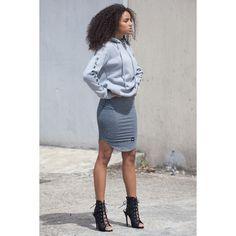 Produkty :: ŽENY :: Oblečenie :: Mikiny :: Mikina Sixth June All Seasons Femme Grey Veľkosť: L - Produkty Street Style, Seasons, Grey, Skirts, Fashion, Gray, Moda, Urban Style, Skirt