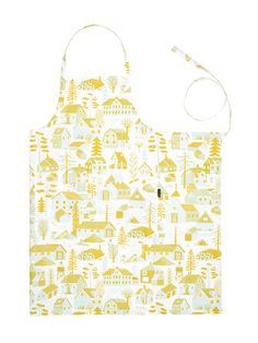 Designed by Bjorn Rune Lie Material: & Size: x Silkscreen printed with fresh turquoise and mustard yellow colors, 2 nice big pockets in the front. New Product, Product Launch, Gift Envelope, Silk Screen Printing, Mustard Yellow, Runes, Finland, Autumn Winter Fashion, Apron