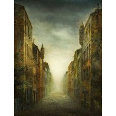 Marmont Hill Straight Way Surreal Artists Mixed Media Print on Canvas, Size: 12 inch x 18 inch, Multicolor