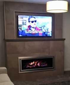 #happycustomer fireplace completed with large format tiles - warm and cosy for the winter months - thanks Mick from Lighting Edge Tiling Services #tiles #tilestyle #tilepowergregoryhills #tpghtiles #fireplace