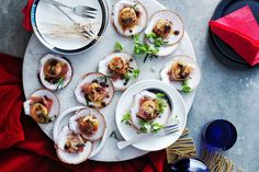 Easy entertaining recipe: scallops with rosemary - Recipes - delicious.com.au Micro Herbs, Cooking For A Group, Bacon Jam, Snacks To Make, Dinner Party Recipes, Scallop Recipes, Perfect Food, Scallops