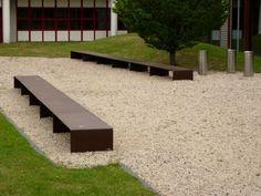 Morella corten steel bench