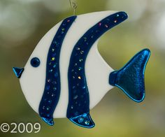 Fused Angel Fish. $28.00, via Etsy. at FunkyWindowGlas