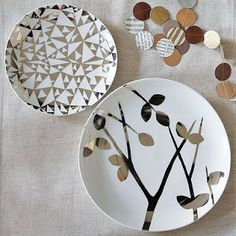 paint a plate for decoration