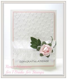 Renlymat's World: I Brake For Stamps: CONGRATULATIONS from EVERY DAY PHRASES.  Handmade wedding card.  There's a 10% off coupon code on blog that doesn't expire.