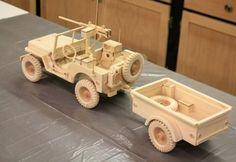 JEEP WILLYS DA SEGUNDA GUERRA MUNDIAL Este é um dos trabalhos de miniaturização mais complexos e perfeitos que já vimos: um Jeep Willys MB da Segunda Guerra Mundial. Ele é equipado com reboqu…