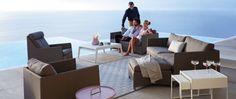 Diamond - Lounge - Garden Furniture by Cane Line Minimalist Home Decor, Minimalist Kitchen, Minimalist Interior, Minimalist Design, Garden Furniture, Outdoor Furniture Sets, Outdoor Decor, Large Sofa, 2 Seater Sofa