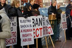 Protesters call for ban on electroconvulsive therapy - Birmingham