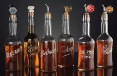 Hard-to-find saloon back bar bottles. Auction Highlights — Old West Events Western Saloon, Back Bar, Bourbon Whiskey, Old West, Highlights, Auction, Fonts, Bottles, Design