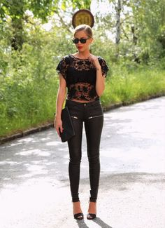 kenza outfit inspiration lace