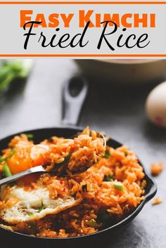 Easy Kimchi Fried Rice #Easy #Kimchi #Fried #Rice Healthy Recipes Easy, Healthy Recipes Dinner, Healthy Recipes Best, Healthy Recipes On A Budget, Healthy Recipes Clean, Healthy Recipes Breakfast,