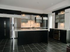 awesome Idée relooking cuisine - Armoire de cuisine moderne avec ilot comptoir corian...