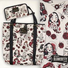 All of your favourite Disney Princesses on an adorable tote and wallet!