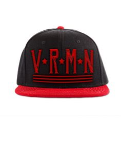 VRMN snapback Red and Black