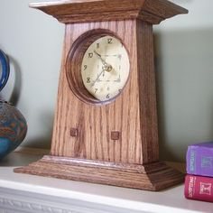 Mission Mantle Clock Woodworking Plan by Tobacco Road Guitars