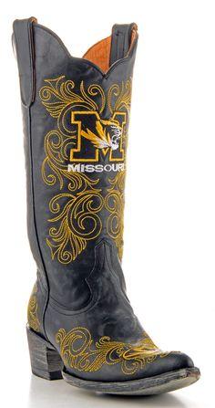 Womens Mizzou Boots #gameday #tailgate