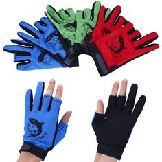 12343e91db Outdoor Waterproof Fishing Gloves Hunting Cyling 3 Cut Finger Anti-Slip  Mitten