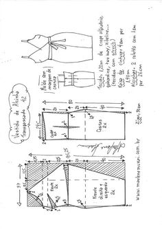 Easy Sewing Patterns, Fabric Patterns, Clothing Patterns, Sewing Tutorials, Fashion Sewing, Diy Fashion, Costura Fashion, Pattern Draping, Sewing Blouses