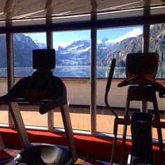 Breathtaking views (and workouts) included no matter where you're sailing. #halcruises #vacation #mountains #Alaska #glaciers (photo: @elise_murphy_)
