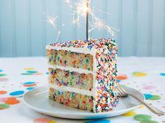 Inspired Photo of Easy Birthday Cake . Easy Birthday Cake Ultimate Birthday Cake From Baked Occasions Recipe Serious Eats Food Cakes, Cupcake Cakes, Cake Icing, Bolo Confetti, Funfetti Kuchen, Homemade Birthday Cakes, Rainbow Sprinkles, Cake Rainbow, Cake Images