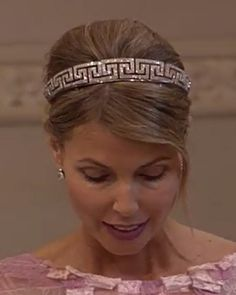 Grafin Natascha von Abensperg und Traun at the wedding of her brother, Christopher O'Niel, to Princess Madeleine of Sweden,