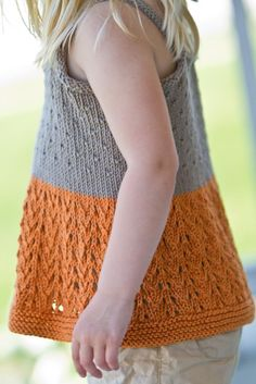 A posh summer tank knit in airy cotton for a breezy fit. This feminine top knits up quickly and is the perfect addition to any little gal's wardrobe. Find this Fall pattern and more knitting inspiration at LoveKnitting.Com.