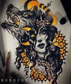 Cool wolf tattoo design ideas suitable for you who loves spirit animal 11