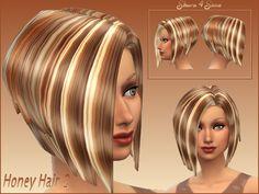 Shara 4 Sims : Honey Hair 2.