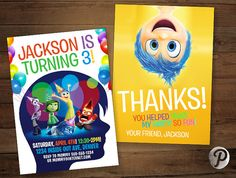 Inside Out Pixar Birthday Party Combo Pack by prettypixelstudio