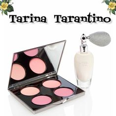 Natural Sparkle blush and shimmer set Add a sexy rosy glow to your face and body with this Sparkle city set from Tarina Tarantino. Quad of beautiful rosy blushes and sparkle City  shimmer dust with the bulb atomizer to dust all over. Apply to bare legs for a shimmery effect on shoulders and décolletage and on hair for a subtle shine. Tarina Tarantino Makeup