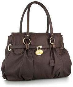Chocolate brown oversize shoulder handbag - J by Jasper Conran - Polyvore