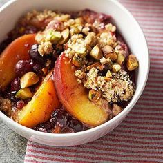 Diabetes Friendly Recipe: Nectarine-Blueberry Crisp | Healthy Yet Tasty Recipes