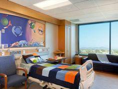 Patient Room, Rady Children's Hospital, San Diego, CA.