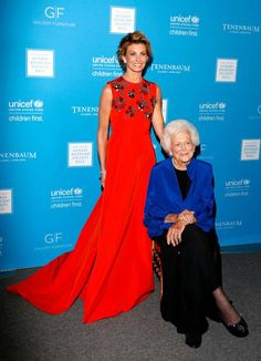 """It was a gala night and First Lady Barbara Bush was there in attendance to receive the """"Audrey Hepburn' Award, for her decades of …"""
