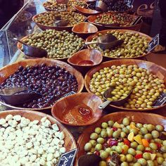 "@mariannerovik's photo: ""#Martna #Trondheim #Oliven #Olives #Green #Market #Foodmarket #Heaven #Flavours #Italy"""